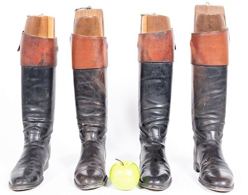 Two Pairs, Two Tone Leather Riding Boots