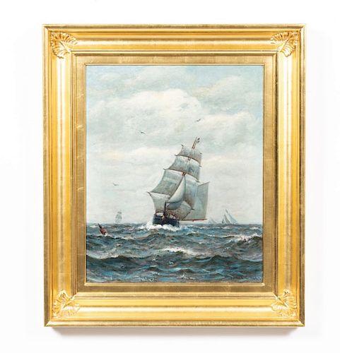 James G. Tyler, Oil on Canvas, Nautical Scene