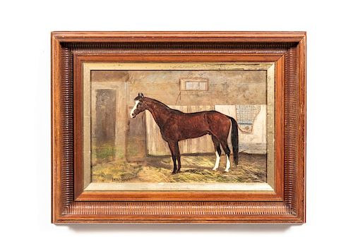 Scott Leighton,  Horse Portrait in Stable