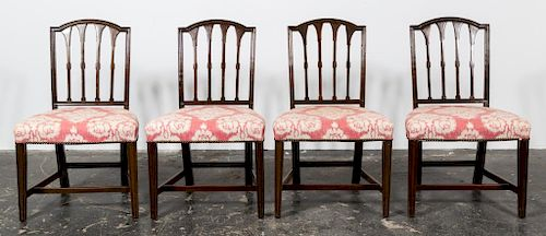 Set, 8 Hepplewhite Style Mahogany Dining Chairs