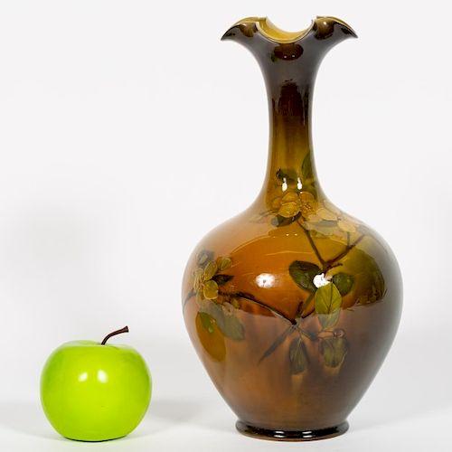 Rookwood Pottery Floral Motif Vase, A.R. Valentien
