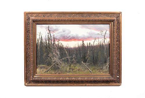 Aleksei Denisov-Uralskii Oil on Canvas, Landscape