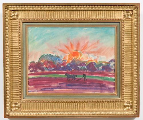 Attr. to Nicholas Tarkhoff Watercolor, Landscape