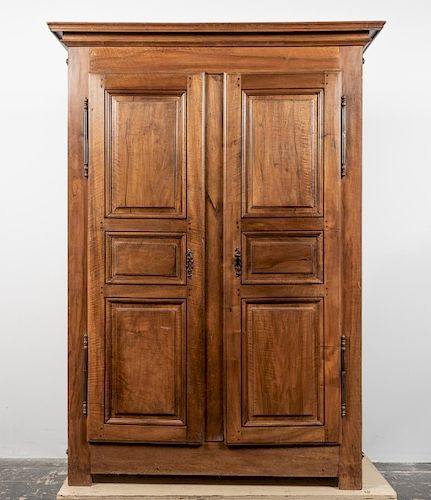 19th C. French Walnut Regence Style Armoire