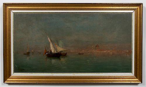 "Adolphe Appian Signed Oil, ""Le Matin a Venise"""
