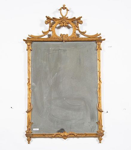 Scrolled Rococo Style Giltwood Mirror