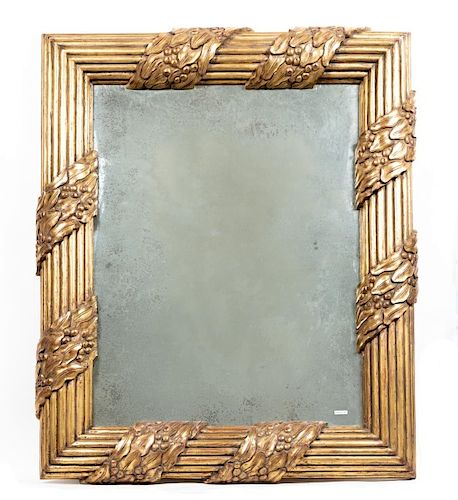 Palatial Leaf and Berry Giltwood Mirror