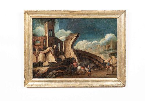 Continental Oil on Canvas, Capriccio Landscape