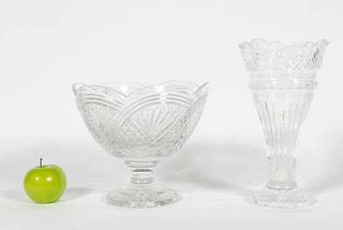 Waterford Crystal Punch Bowl and Vase