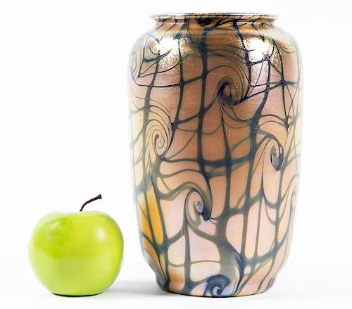 """Durand Art Glass """"King Tut"""" Vase"""