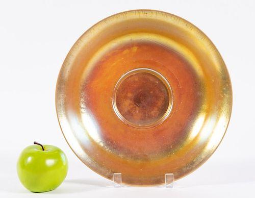 Carder Steuben Iridescent  Aurene Console Bowl