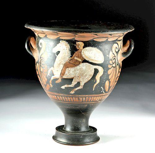 Greek Campanian Bell Krater, AV Group, ex-Royal Athena