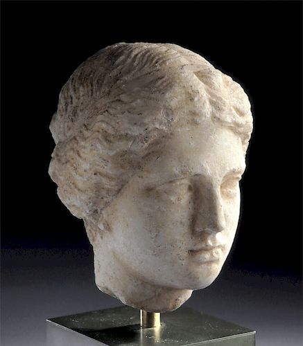Stunning Roman Marble Head of a Young Woman