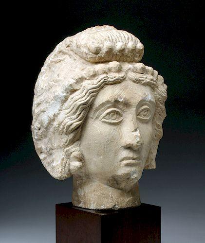 Palmyrene / Roman Period Limestone Head of A Female