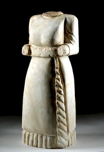 Very Large Roman Marble Attendant - Married Woman