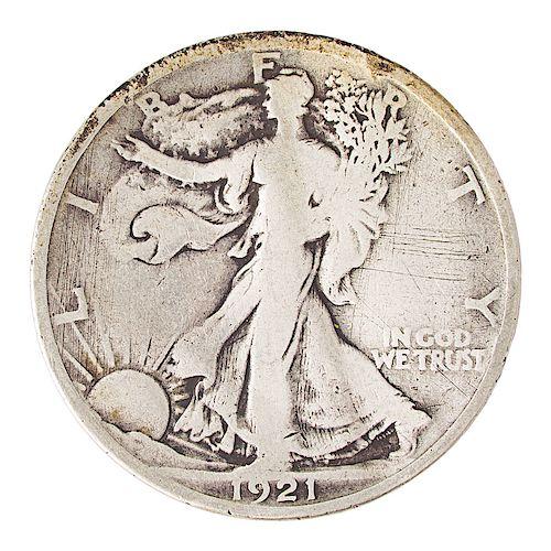U.S. WALKING LIBERTY 50C COIN COMPLETE SET
