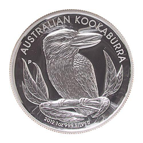 AUSTRALIA 2012 P KOOKABURRA HIGH RELIEF SILVER COIN
