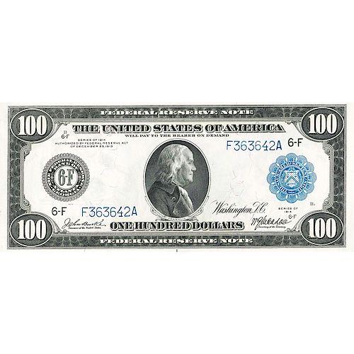 U.S. 1914 $100 FEDERAL RESERVE NOTE
