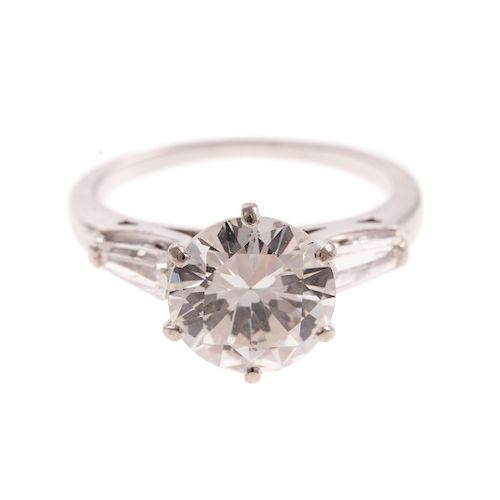 A Ladies 2 ct. Diamond Solitaire Ring in 14K Gold