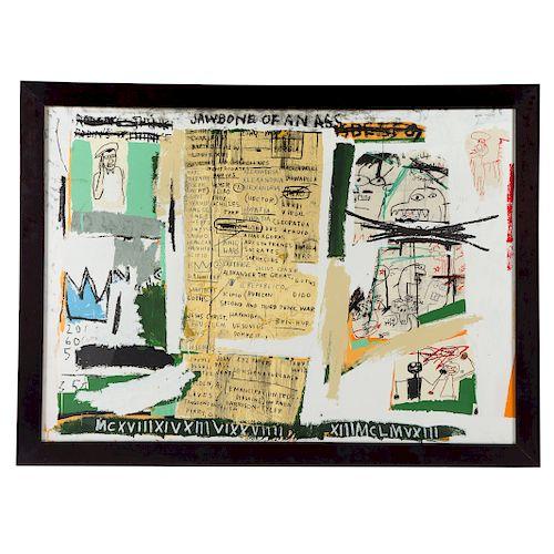 """After Jean-Michel Basquiat. """"Jawbone of an Ass"""""""