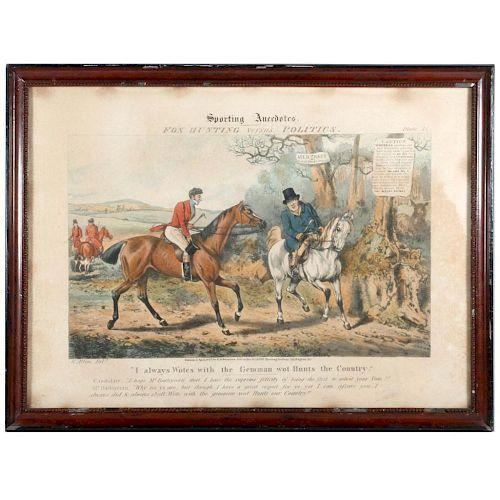 An early 19th century English political cartoon.