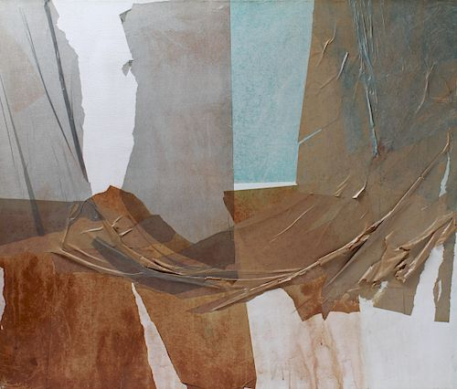 "Art Brenner ""Vita"" Abstract Mixed Media on Canvas"