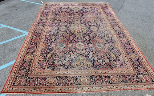 Large Antique and Finely Hand Woven Kashan Carpet