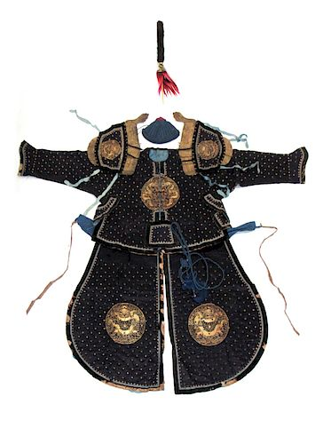 A Manchu Military Officer's Ceremonial Armor.