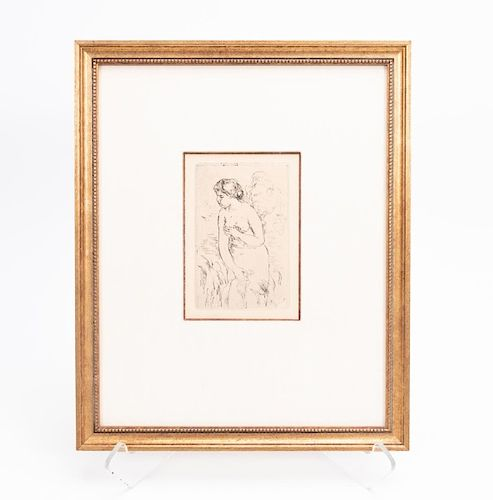 Renoir Etching, Standing Bather, c. 1910