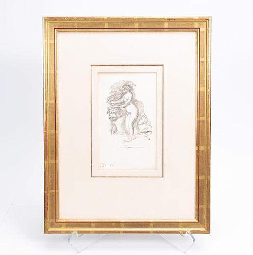 """Renoir Litho, """"Femme Au Cep de Vigne"""", c. 1919"""