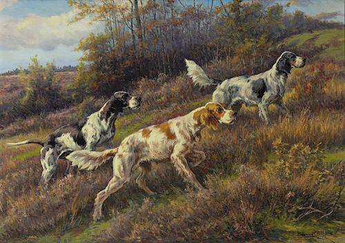 Edmund H. Osthaus (1858-1928) On Point, Up Hill