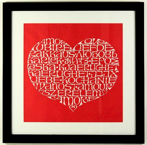 Alexander Girard Original Love Heart