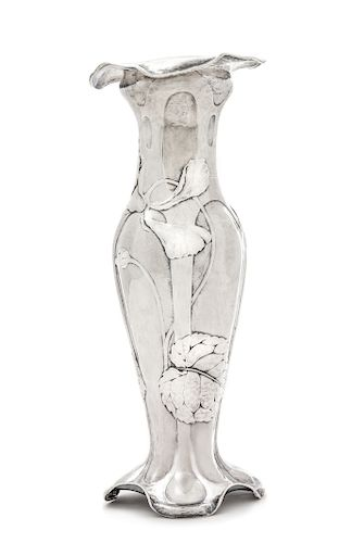 A Gorham Martelé Silver Vase