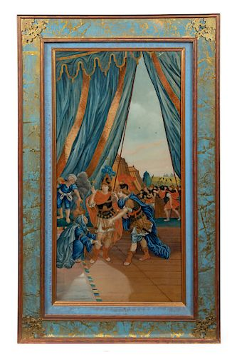 A Chinese Export Reverse Glass Painting