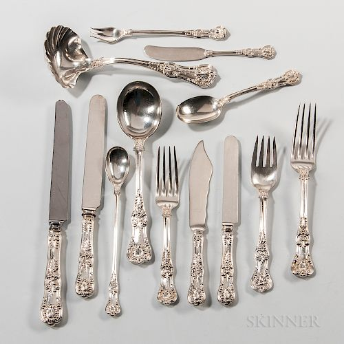 "Tiffany & Co. ""English King"" Pattern Sterling Silver Flatware Service"