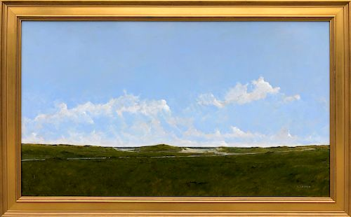 "Kenneth Layman Oil on Board ""South Shore #1"""