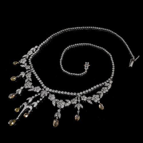 Vintage 21.0ct TW Diamond Necklace