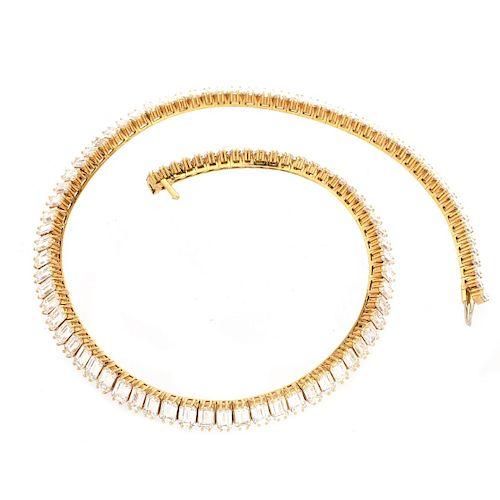 50.0ct TW Diamond and 18K Necklace