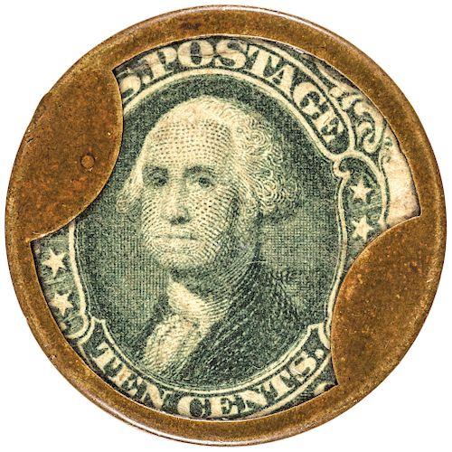 Encased Postage Stamp 10 Cents ELLIS McALPIN + CO. Cincinnati EP-112 Rarity-5