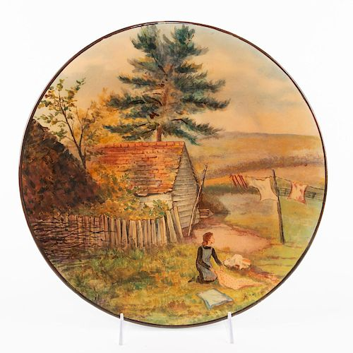 DOULTON LAMBETH AESTHETIC MOVEMENT LARGE CHARGER PLATE