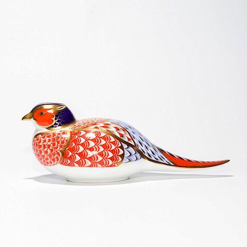 ROYAL CROWN DERBY BIRD FIGURINE, PHEASANT