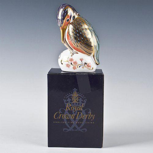 ROYAL CROWN DERBY KINGFISHER BIRD FIGURINE