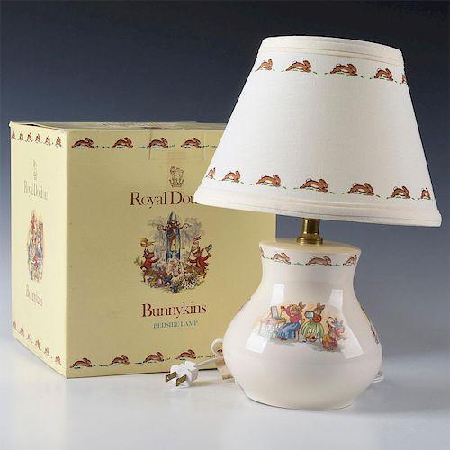 ROYAL DOULTON BUNNYKINS BEDSIDE LAMP AND SHADE