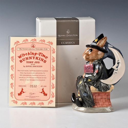 ROYAL DOULTON BUNNYKINS TOBY JUG WITCHING TIME D7166
