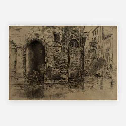 James Abbott McNeill Whistler -  The Two Doorways, from first Venice Set