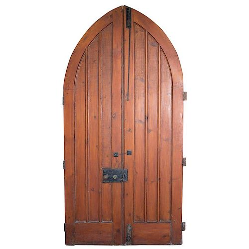 Pair of Antique English Gothic Chapel Doors