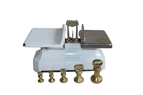 Vintage English Avery Butcher's Scale