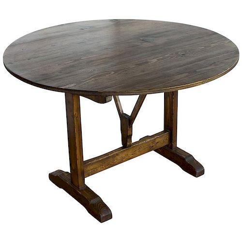 Vintage French Vendange Tilt Top Table