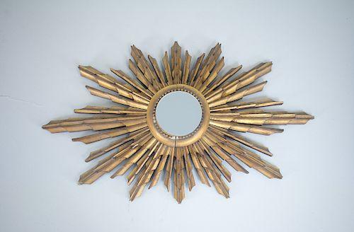 Antique English Sunburst Mirror