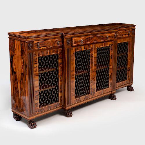 Regency Style Rosewood Side Cabinet